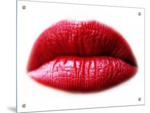 Close-Up of Red Lipsticked Lips by I.W.