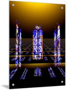 Floating Stained Glass Windows from Church by I.W.
