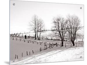 Man Walking in Winter Countryside by I.W.