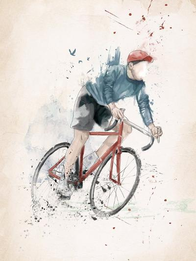 I Want to Ride My Bicycle-Balazs Solti-Art Print