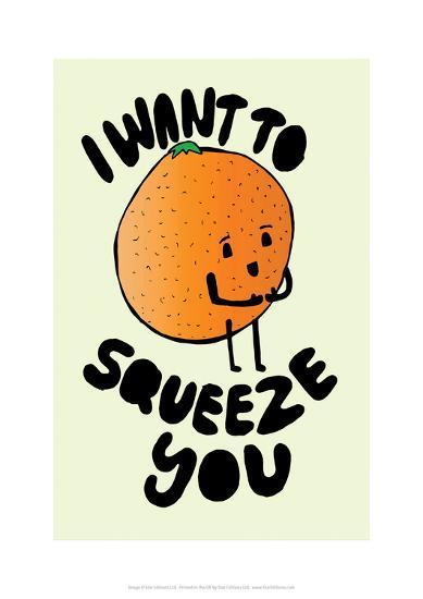 I Want To Squeeze You - Tom Cronin Doodles Cartoon Print-Tom Cronin-Giclee Print