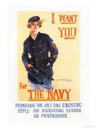 I Want You for the Navy-Howard Chandler Christy-Art Print