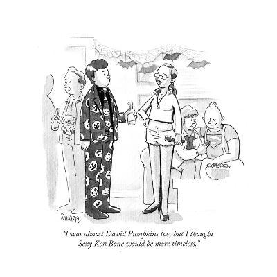 """I was almost David Pumpkins too, but I thought Sexy Ken Bone would be mor?"" - Cartoon-Benjamin Schwartz-Premium Giclee Print"