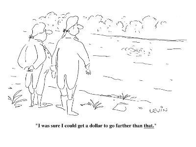 """I was sure I could get a dollar to go farther than that.  - Cartoon-Arnie Levin-Premium Giclee Print"