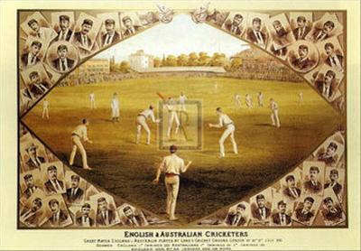 English and Australian Cricketers