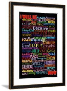 I Will Be (Motivational List) Art Poster Print