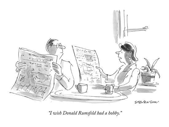 """I wish Donald Rumsfeld had a hobby."" - New Yorker Cartoon-James Stevenson-Premium Giclee Print"