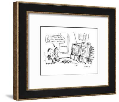 I wonder why he has no interest in reading.' - Cartoon-David Sipress-Framed Premium Giclee Print