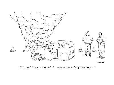 """""""I wouldn't worry about it?this is marketing's headache."""" - New Yorker Cartoon-Alex Gregory-Premium Giclee Print"""
