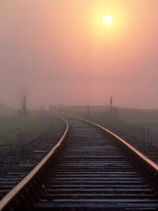 Railway Track at Sunrise, Ross-Shire, Scotland by Iain Sarjeant
