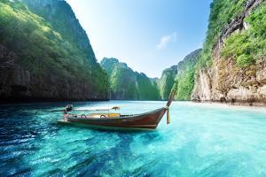 Bay at Phi Phi Island in Thailand by Iakov Kalinin