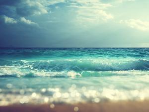Beach in Sunset Time, Tilt Shift Soft Effect by Iakov Kalinin