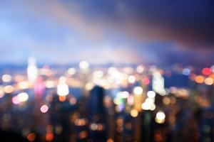 Blured Lighhts from Peak Victoria, Hong Kong by Iakov Kalinin