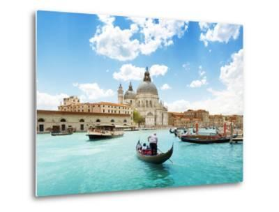 Grand Canal And Basilica Santa Maria Della Salute, Venice, Italy And Sunny Day