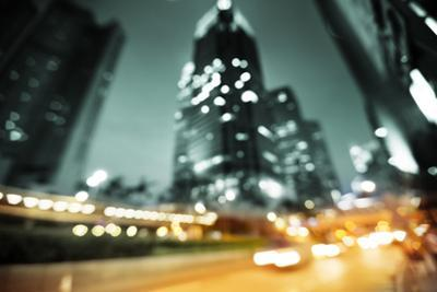 Night Lights of the Hong Kong out of Focus by Iakov Kalinin