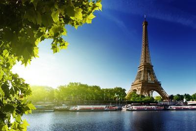 Seine In Paris With Eiffel Tower In Sunrise Time by Iakov Kalinin