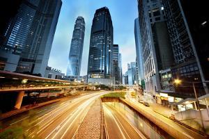 Traffic in Hong Kong by Iakov Kalinin