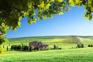 Tuscany Landscape with Typical Farm House by Iakov Kalinin