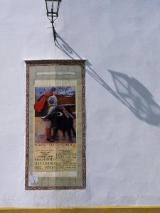 Poster Adveritising a Bull Fight on the Exterior of the Bull Ring, Plaza De Torres De La Maestranza by Ian Aitken