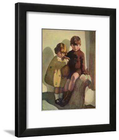 'Ian and Rosemary', c1923-Norah Neilson Gray-Framed Giclee Print