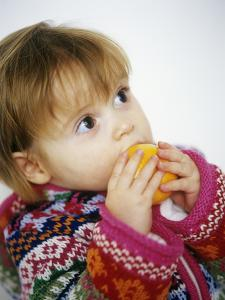 Young Girl with Satsuma by Ian Boddy