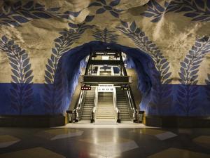 Artwork in Kungstradgarden Subway Station, Stockholm, Sweden, Scandinavia, Europe by Ian Egner