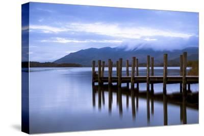 Lodore Landing on Derwentwater w Clouds over Skiddaw, Lake District Nat'l Pk, Cumbria, England, UK