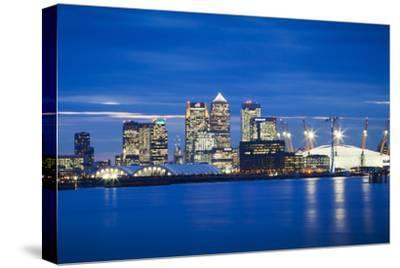 Panoramic View of London Skyline over the River Thames Featuring Canary Wharf