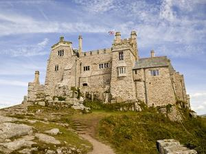 St Michael's Mount Castle Viewed Close Up, Cornwall, England, UK, Europe by Ian Egner