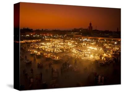 View at Sunset across DJemaa el Fna, Marrakech, Morocco, North Africa, Africa