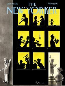 The New Yorker Cover - January 20, 1997 by Ian Falconer
