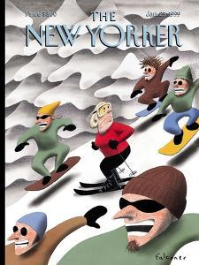 The New Yorker Cover - January 25, 1999 by Ian Falconer