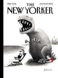The New Yorker Cover - July 12, 2004 by Ian Falconer