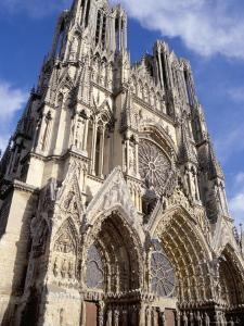 West Front of Reims Cathedral, Dating from 13th and 14th Centuries, France by Ian Griffiths