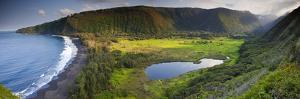 Island of Hawaii, Hawaii: Elevated View of Waipio Valley. by Ian Shive