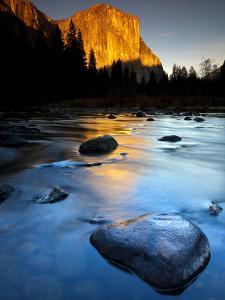 Merced River Beneath El Capitan in Yosemite National Park, California by Ian Shive