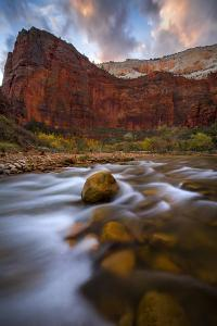 Zion National Park, Utah: Near Big Bend Along The Virgin River At Dusk by Ian Shive