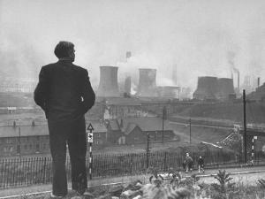 British Politician and Labor Party Leader Aneurin Bevan Surveying the Largest Steel Works in Europe by Ian Smith