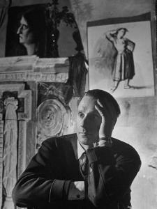 """Director Carol Reed Sitting on the Set of His Movie """"Odd Man Out"""" by Ian Smith"""