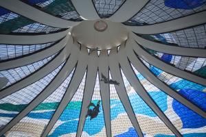 Angel Sculptures by Alfredo Ceschiatti Inside Metropolitan Cathedral, Brasilia, Federal District by Ian Trower