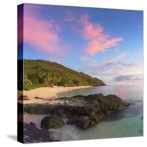 Beach at Octopus Resort at Sunset, Waya Island, Yasawa Islands, Fiji by Ian Trower