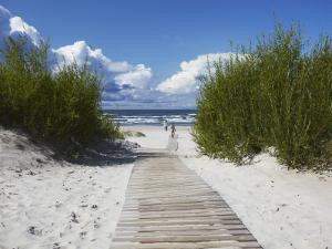 Boardwalk Leading to Beach, Liepaja, Latvia by Ian Trower