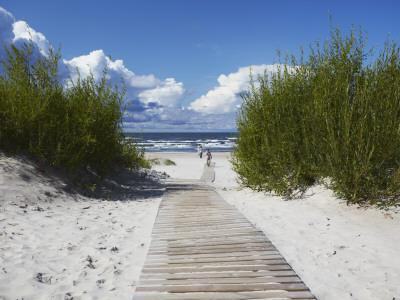 Boardwalk Leading to Beach, Liepaja, Latvia