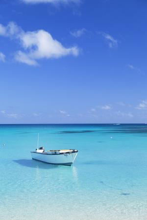 Boat on Blue Lagoon, Nacula Island, Yasawa Islands, Fiji