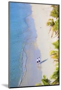 Boys Walking on Beach at Mana Island Resort, Mana Island, Mamanuca Islands, Fiji by Ian Trower
