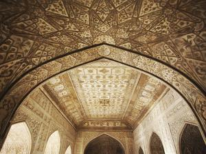 Ceiling of Khas Mahal in Agra Fort, Agra, Uttar Pradesh, India by Ian Trower
