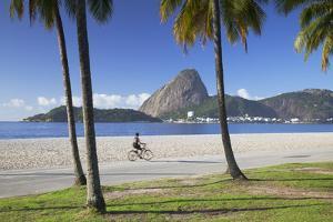 Flamengo Beach and Sugarloaf Mountain, Rio De Janeiro, Brazil by Ian Trower