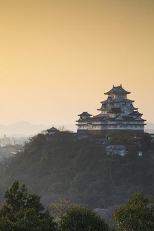 Himeji Castle (Unesco World Heritage Site) at Dawn, Himeji, Kansai, Honshu, Japan by Ian Trower