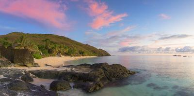 Octopus Resort and Waya Island at Sunset, Yasawa Islands, Fiji by Ian Trower