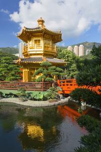 Pagoda in Nan Lian Garden at Chi Lin Nunnery, Diamond Hill, Kowloon, Hong Kong, China, Asia by Ian Trower